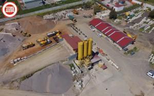 Vista aérea de planta de árido, hormigón y aglomerados Olleta Torres