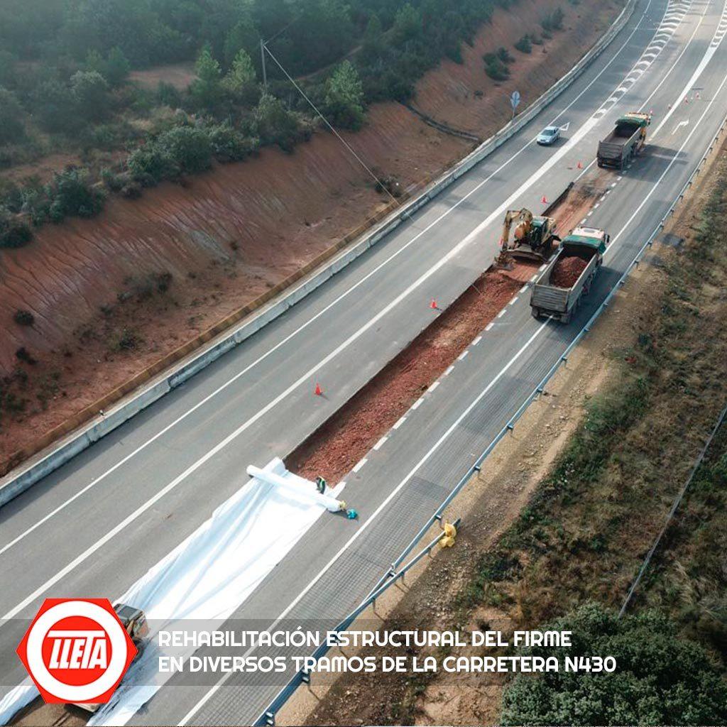 Rehabilitación estructural del firme en diversos tramos de la carretera N430 3