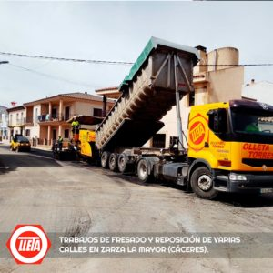 fresado y reposición de varias calles en Zarza la Mayor 3