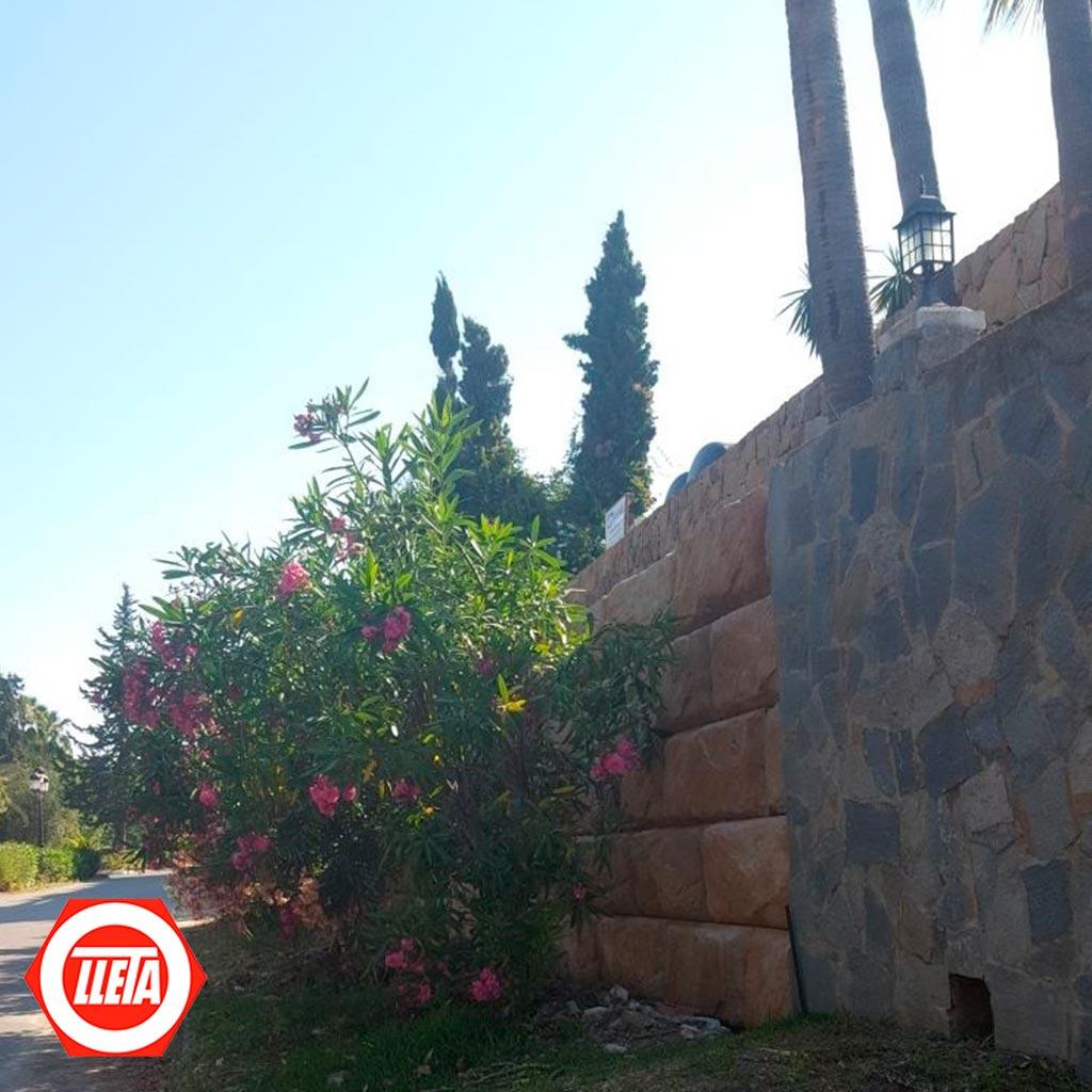 Muro de contención en casa particular