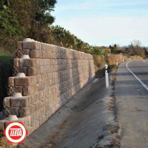 Muro de contención prefabricado